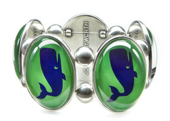 Preppy Green Whale Stretch Bracelet