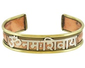 Om Namah Shivaya Copper Power Cuff