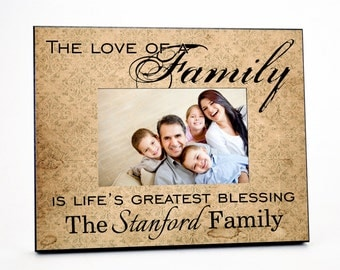 Personalized Family Picture Frame for 4x6 Photo Mother's Day Gift UPSTAN_01