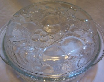 Pyrex, Casserole Dish, Pie Pan And Casserole Dish, Ovenware, Made By Libbey, Fruit Orchard Pattern, Pie Pan