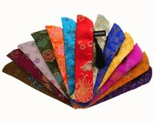 HairJems Silky Bag or Pouch for Hair Stick Storage and Protection - Silky Satin Brocade Protective Pouch or Bag