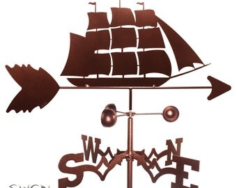 Hand Made Clipper Ship Nautical Weathervane NEW
