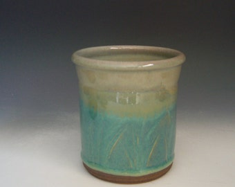 Hand thrown stoneware pottery kitchen jar  (KJ-5)