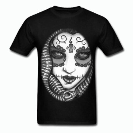 Medusa Tee Shirt Black and White