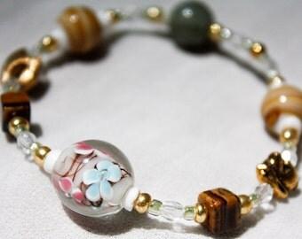 Bunny and Flowers Bracelet