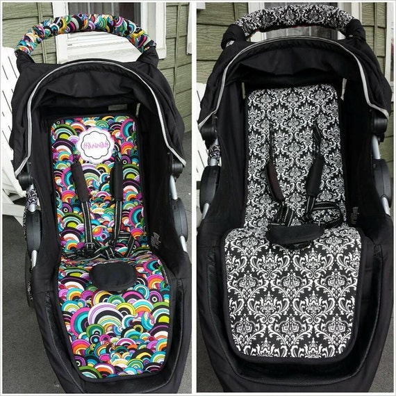 Personalized Reversible Stroller Pad Liner - Britax B-Agile- - - Made to Order - - -
