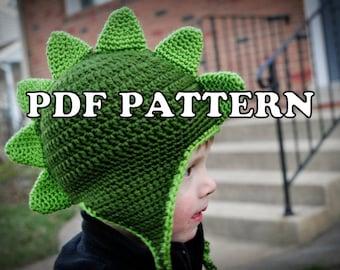 PDF PATTERN - Dapper Dino Crochet Hat