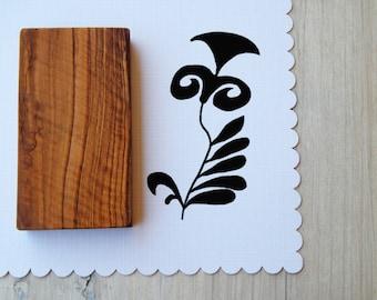 Minoan Inspired Flower Olive Wood Stamp