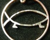 Darwins Fish Hand Cut Coin Jewelry