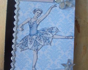 Ballerina Dance Altered Mini Composition Book