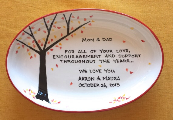 Wedding Gift For Parents Etsy : ... GROOM Personalized to my Mom and DadGift for ParentsFall Tree