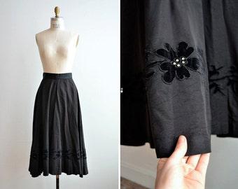 Vintage 1950s embellished circle skirt