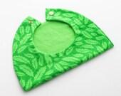 Green Salad Baby Girl Bib / Toddler Infant Bib Made in Israel by CasaDeGato