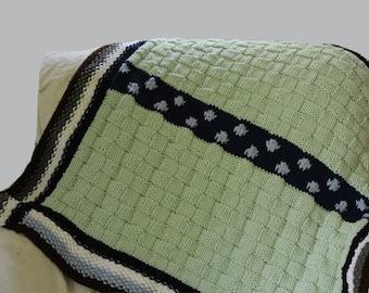 KNITTING PATTERN- Polka Dot Baby Blanket PDF knitting pattern