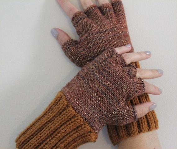 Fingerless Gloves Knitting Pattern Double Pointed Needles : KNITTING PATTERN Fingerless Gloves knitting pattern PDF