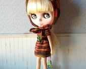 Brown Raibow Set for Blythe Doll