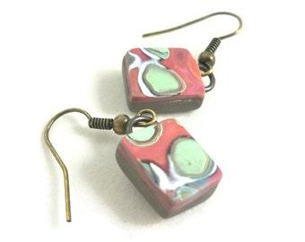 Tiny earrings clay dangles