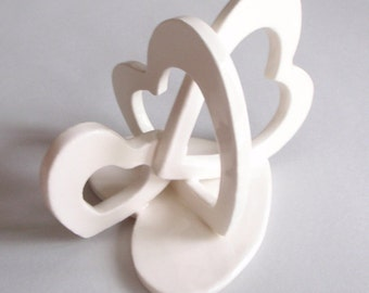 Hearts Entwined Wedding or Anniversary Cake Topper