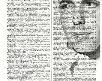HUMPHREY BOGART PHOTO Vintage Dictionary Art Print Upcycled Book Art Celebrity Home Decor Hollywood Wall Decor The Maltese Falcon Casablanca