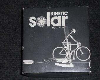 Vintage Otagiri Kinetic Solar Bicycle/Cyclist-Comes With Box-NICE!!!