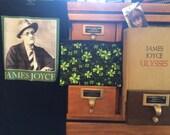 James Joyce/Shamrock Cosmetic Bag