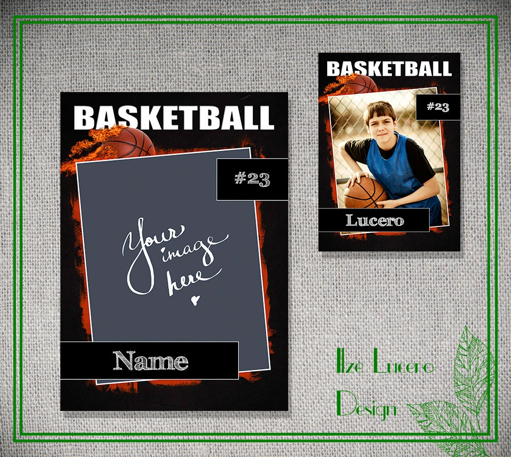 psd basketball trading card template. Black Bedroom Furniture Sets. Home Design Ideas