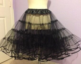 Black Tulle Petticoat Vintage Style Petticoat
