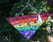 Pride Triangle Mirror Mosaic For the Garden Beyond Fabulous - shipping included