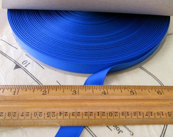 "roll of 5/8"" electric blue grosgrain ribbon - 100yds, polyester, made in USA"