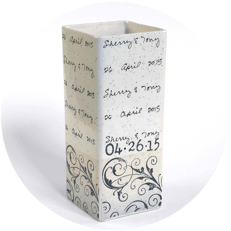 Wedding Gift Vase: Personalized Wedding Vase Ceramic Wedding Vase Personalized