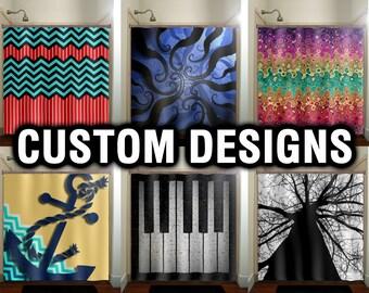 Nice Custom Window Curtains Panels, Window Treatment, Fabric Shower Curtain,  Chevron Octopus Anchor Piano