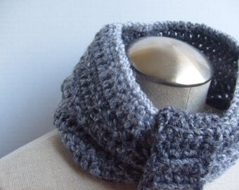 crochet grey neckwarmer women - grey crochet neckwarmer - women grey neckwarmer crochet - grey crochet neckwarmer women