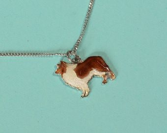 Vintage Sterling Dog Pendant Necklace - Lassie Come Home