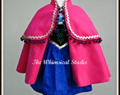 Anna Dress and Cape/ Anna Costume /  Princess Dress and Cape / Anna Cape / Princess Anna /Dress and Cape