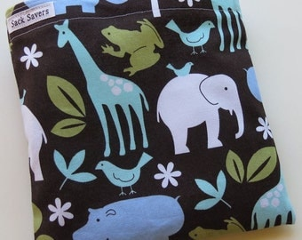 Reusable Sandwich Bag Eco Friendly Zoology Animals