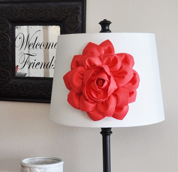 coral dahlia lamp shade flower magnetic accessory decorative lighting. Black Bedroom Furniture Sets. Home Design Ideas