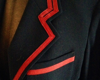 Military inspired couture vintage Crisca blazer signature classic coat