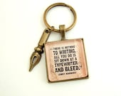 Ernest Hemingway Key Ring Quote Jewelry Quote Keychain Key Ring Holder Gift for Writer Literary Jewelry Author Quote Book Lover Jewelry