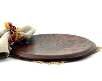 Wooden Walnut Plates / Dinnerware / Cake Plate