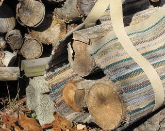 Fireplace Tool Mens Gift, Firewood Log Carrier, Wood Stove Log Bag, Firewood Tote, Modern Farmhouse Rustic Mountain Cabin Wabi Sabi Decor