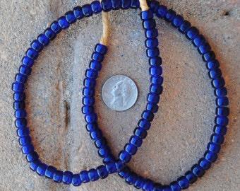 Czech Beads: Dark Blue (5x8mm)