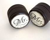 Mr & Mrs - Set  0f  2 - Wedding Ring Box - Customize