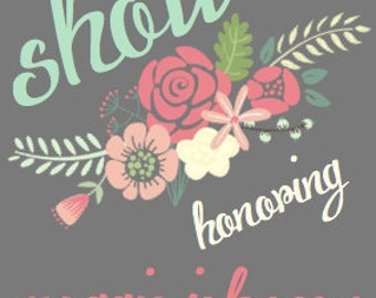 DIY Printable Wedding Shower Invitation