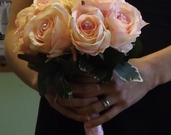 SALE! Pink passion bouquet, Bridal package, Ready to ship!