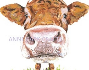 Cute Cow Clip Art, Instant Download