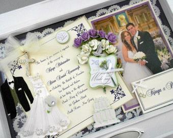 WEDDING BLISS Wedding Invitation Keepsake Box with Engraved Name Plate