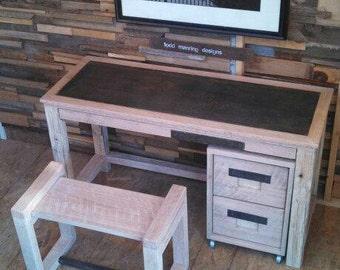 Steel Top Desk Set