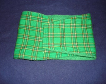 Green Plaid Male Dog Diaper - Belly Band - This listing for XS - Large