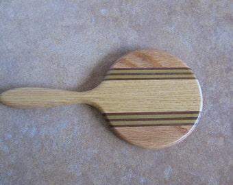 """4"""" Diameter Wooden Mirror"""