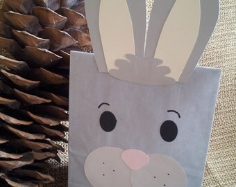 Bunny Rabbit Treat Sacks - Woodland Forest Farm Barnyard Petting Zoo Easter Theme Birthday Party Favor Goody Bags by jettabees on Etsy